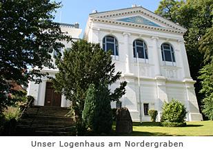 Außenansicht unseres Logenhauses im Nordergraben Flensburg